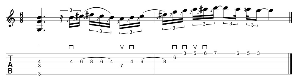 how to write a whole tone scale