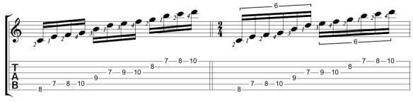 C Major Notpeggio II Positional