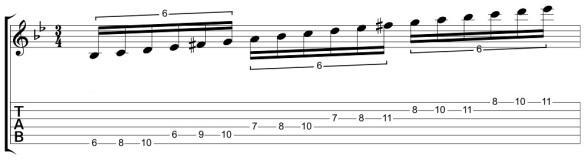 G Harmonic Minor from C