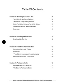 Pent Table of Contents 2