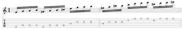 Lick 2 - Moved in octaves