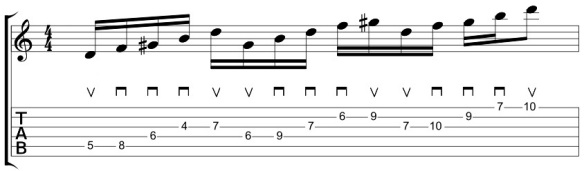 16th Note Initial Picking